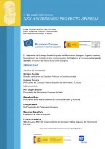 Programa XXX Aniversario Proyecto Spinelli