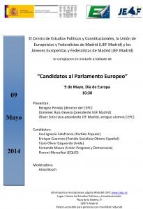 9 de Mayo, Día de Europa, Debate Electoral para las Elecciones Europeas