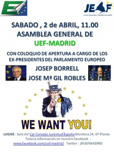 2 de Abril. Asamblea General de UEF MADRID
